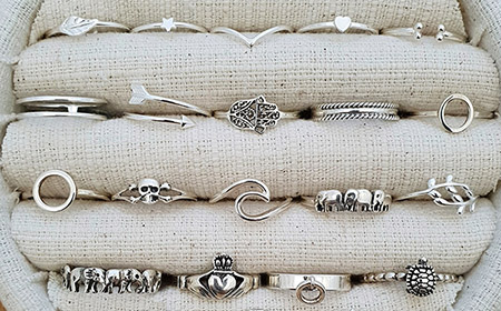 Sterling Silver Rings and Earrings - Studio Jewellery US
