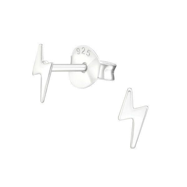 Lightning Bolt Sterling Silver Earring Studs Studio Jewellery Us