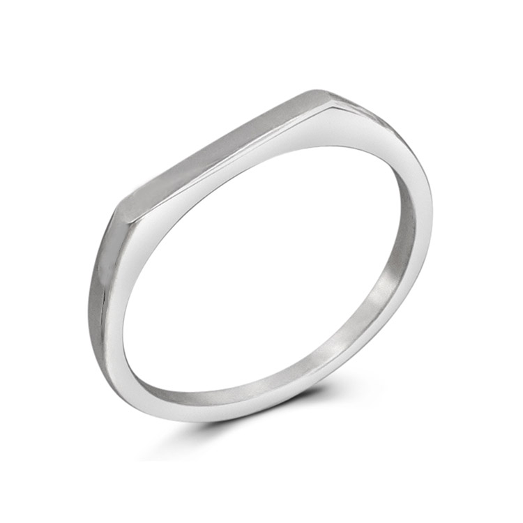 Flat Top 2mm Silver Stacker Ring